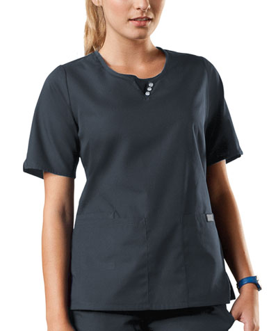 Cherokee Workwear WW Originals Women's Round Neck Top Grey