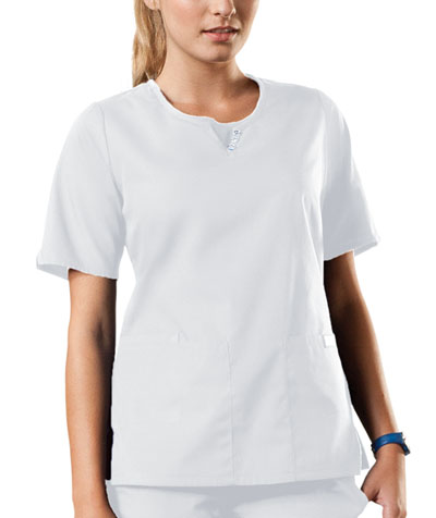 WW Originals Women's Round Neck Top White