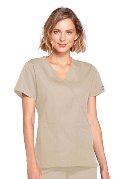 WW Originals Women's Mock Wrap Top Khaki