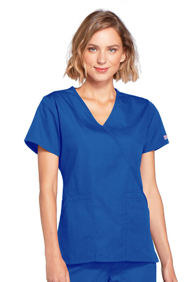 WW Originals Women's Mock Wrap Top Blue