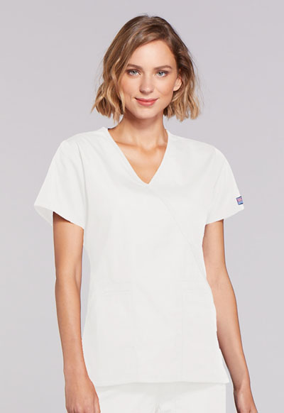 WW Originals Women's Mock Wrap Top White