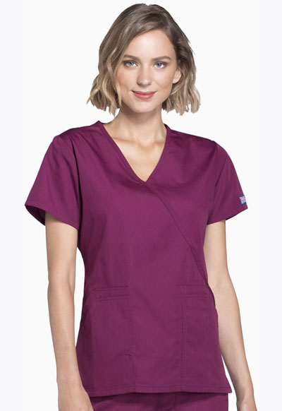 WW Originals Women Mock Wrap Top Purple