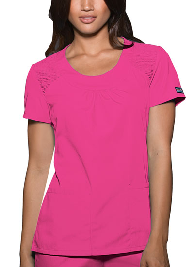 Cherokee Workwear WW Originals Women's Round Neck Top Pink