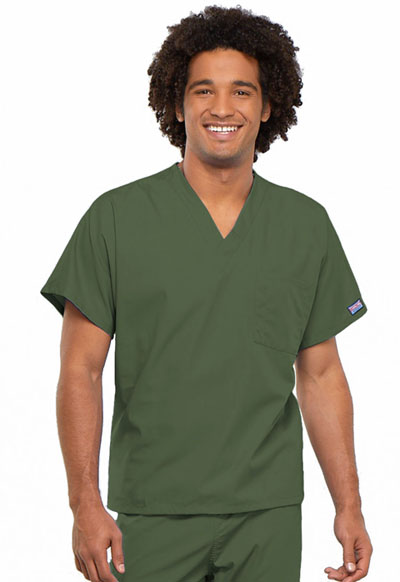 Cherokee Workwear WW Originals Unisex Unisex V-Neck Tunic Green