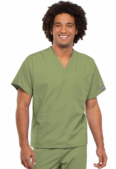 Cherokee Workwear WW Originals Unisex Unisex V-Neck Tunic Green