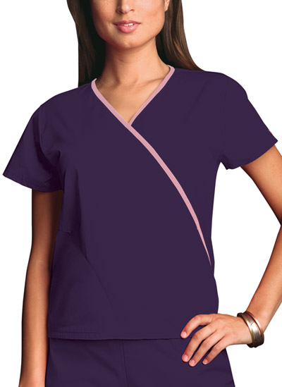 WW Originals Women\'s Mini Mock Wrap Top Purple