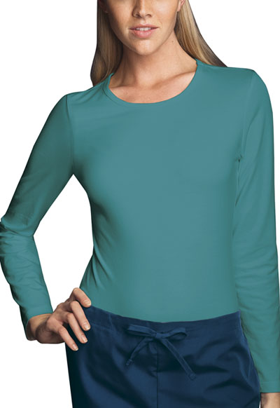 WW Originals Women's Long Sleeve Underscrub Knit Tee Green