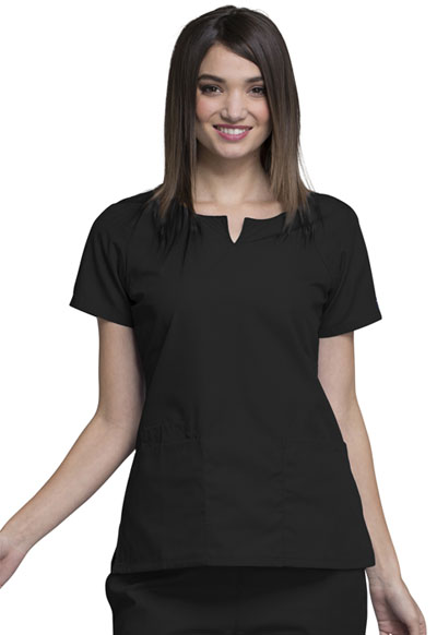 WW Originals Women's Round Neck Top Black