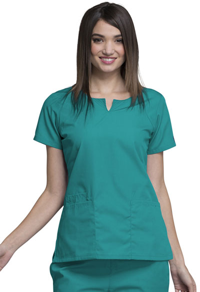 WW Originals Women's Round Neck Top Green