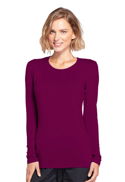 WW Originals Women's Long Sleeve Underscrub Knit Tee Purple