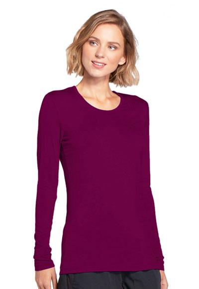 01d9f681d25 Photograph of WW Originals Women's Long Sleeve Underscrub Knit Tee Purple  4881-WINW