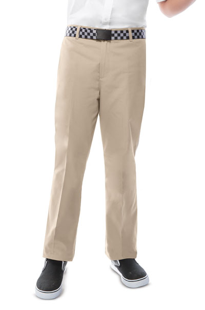 Classroom Boy\'s Boys Adj. Waist Flat Front Pant Khaki
