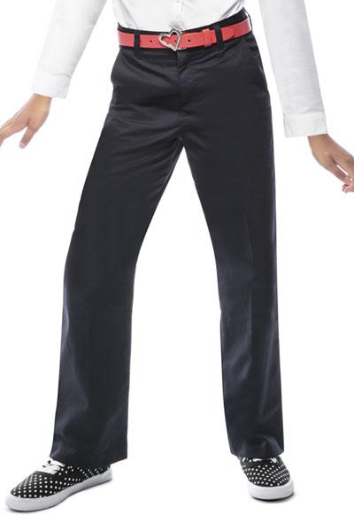 Classroom Girl\'s Girls Adj. Waist Flat Front Trouser Black