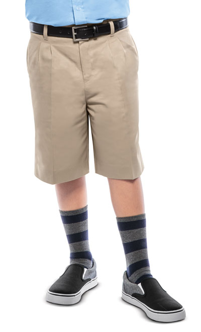 Classroom Boy\'s Boys Husky Pleat Front Short Khaki