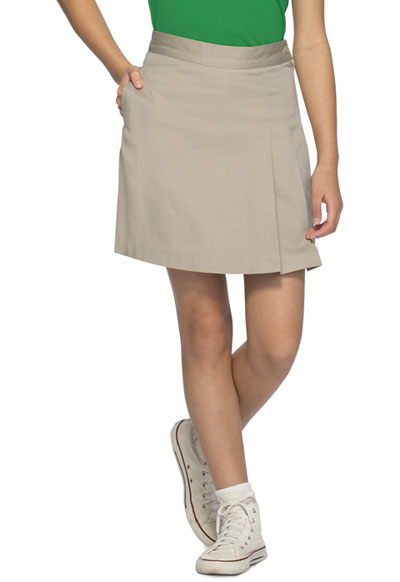 b86f12c13a Classroom Girls Stretch Double-Pleated Scooter in Khaki 55272A-KAK ...