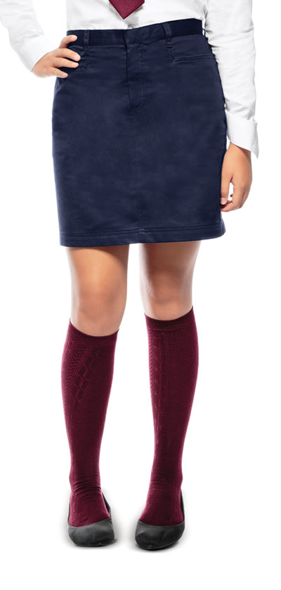 Classroom Junior\'s Juniors A-Line Skirt Blue