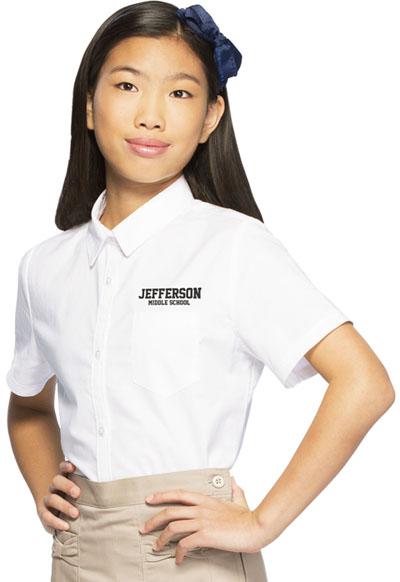 Classroom Junior's Junior Short Sleeve Oxford White