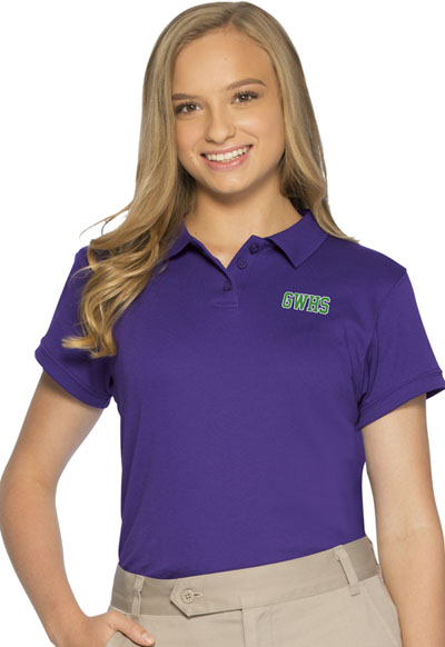 Classroom Junior\'s Junior SS Fitted Interlock Polo Purple