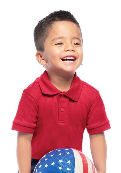 Classroom Preschool Preschool Unisex SS Interlock Polo Red