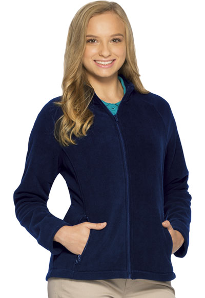 Classroom Junior's Junior Fitted Polar Fleece Jacket Blue