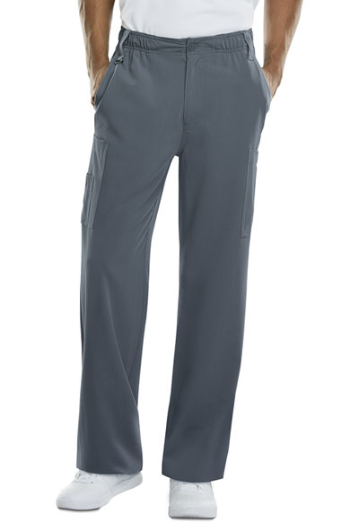 Xtreme Stretch Men Men's Zip Fly Pull-On Pant Gray