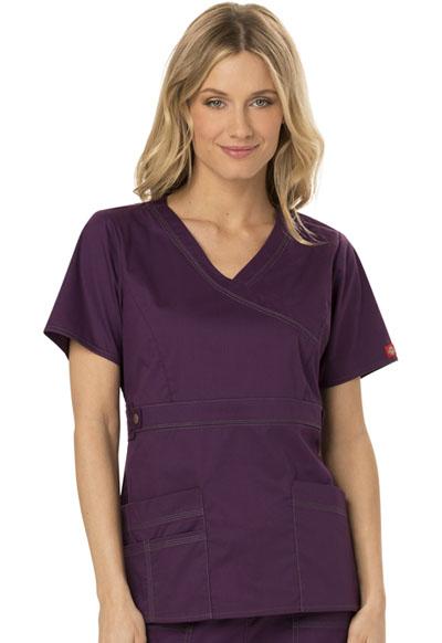 Dickies Gen Flex Women\'s Mock Wrap Top Purple