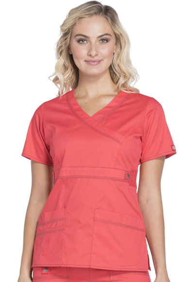 e1df6e1c4ab Gen Flex Mock Wrap Top in Hibiscus 817355-HIBI from The Nurses ...