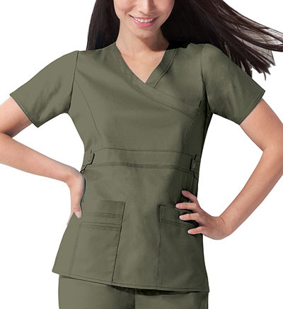 Dickies Gen Flex Women's Mock Wrap Top Green