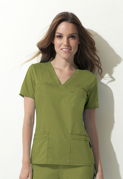 Dickies Gen Flex Women's V-Neck Top Green