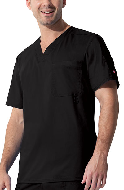 "Dickies Gen Flex Men's ""Youtility"" Men's V-Neck Top Black"