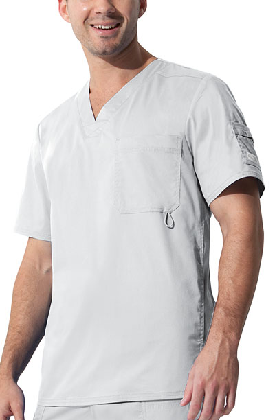 "Gen Flex Men's ""Youtility"" Men's V-Neck Top White"