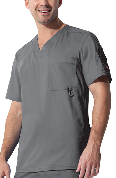 "Dickies Gen Flex Men's ""Youtility"" Men's V-Neck Top Grey"