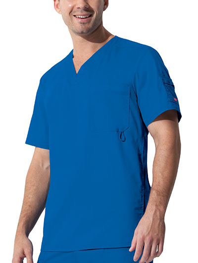 "Dickies Gen Flex Men's ""Youtility"" Men's V-Neck Top Blue"