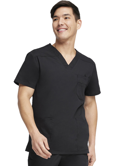 38f95f917bd Dickies EDS Signature Men's V-Neck Top in Black from Dickies Medical