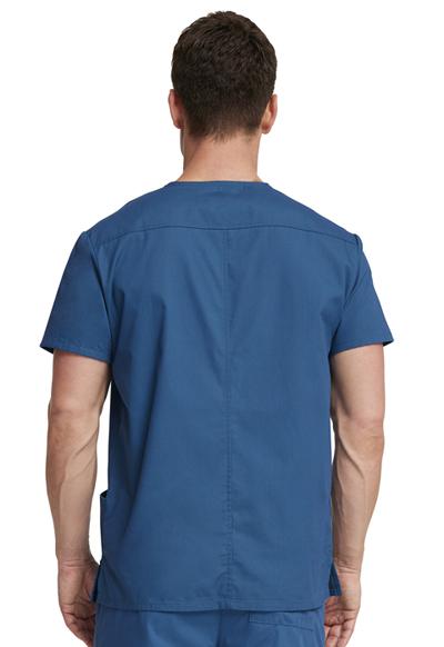 9102ec705aa Photograph of Dickies EDS Signature Men's V-Neck Top in Caribbean Blue