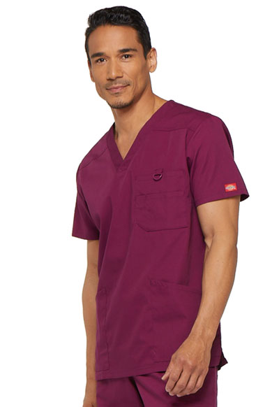 aa9564d044c EDS Signature Men's V-Neck Top in Wine 81906-WIWZ from Love Your Scrubs