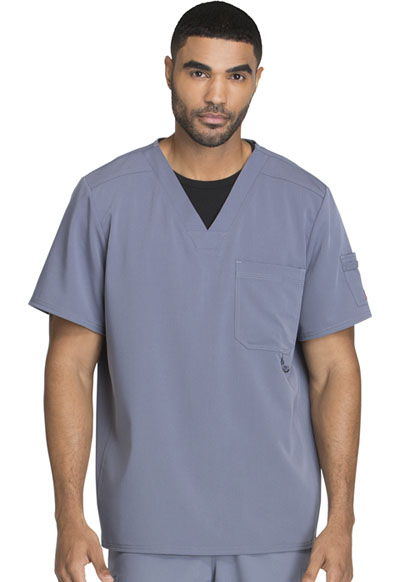 Xtreme Stretch Men's Men's V-Neck Top Gray