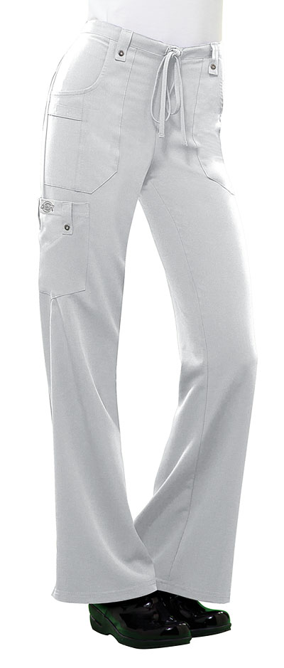 61099800026 Photograph of Xtreme Stretch Women's Mid Rise Drawstring Cargo Pant White  82011-DWHZ