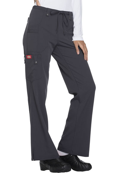 54f8a5c70d4 Photograph of Xtreme Stretch Women's Mid Rise Drawstring Cargo Pant Gray  82011-PEWZ