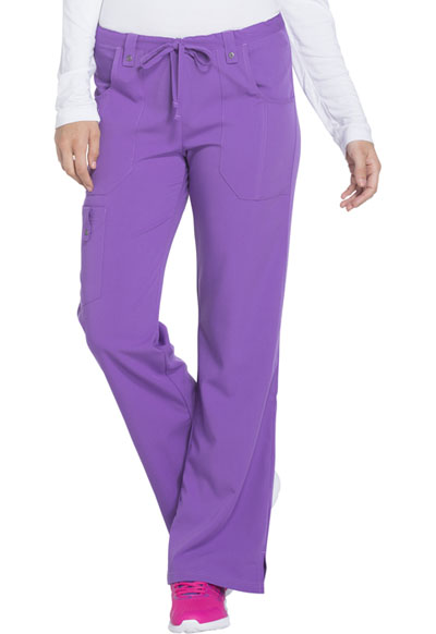 Xtreme Stretch Women's Mid Rise Drawstring Cargo Pant Purple