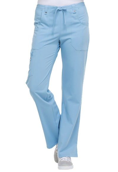 Xtreme Stretch Women Mid Rise Drawstring Cargo Pant Blue