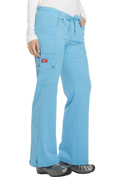 b08bed5a896 Photograph of Xtreme Stretch Women's Mid Rise Drawstring Cargo Pant Blue  82011-TUBL