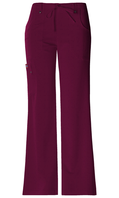 Xtreme Stretch Women's Mid Rise Drawstring Cargo Pant Red