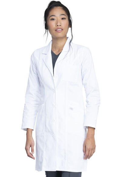 "Dickies Dickies Prof. Whites Women's 37"" Lab Coat White"