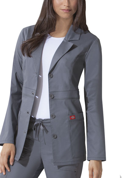 "Dickies Gen Flex Women's 28"" Lab Coat Grey"