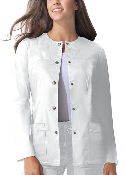 Dickies Gen Flex Women's Snap Front Warm-Up Jacket White