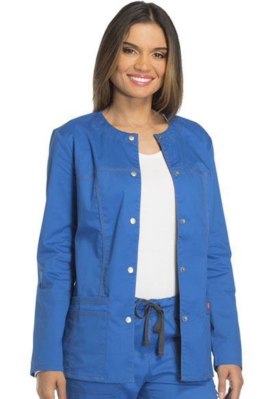 Dickies Gen Flex Women\'s Snap Front Warm-Up Jacket Blue