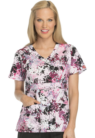 Dickies Prints Women's Mock Wrap Top Be Spotted
