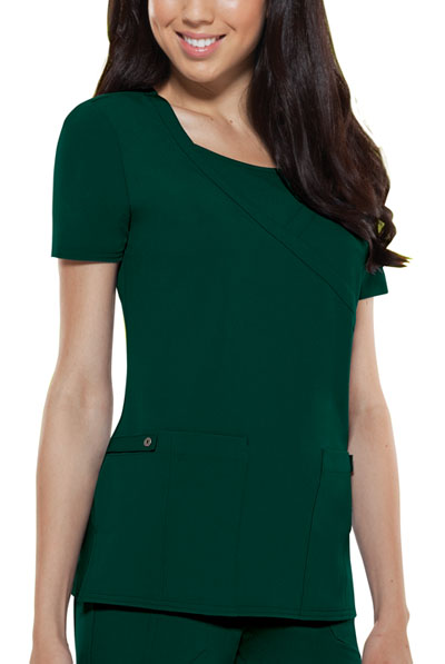 Dickies Xtreme Stretch Women's Mock Wrap Top Green
