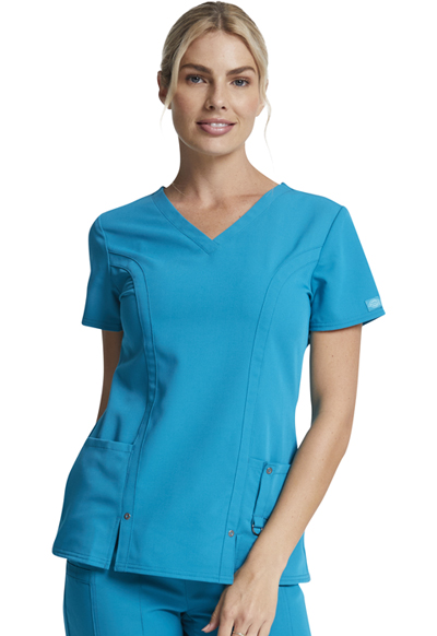 503251e2945 Xtreme Stretch V-Neck Top in Teal 82851-DTLZ from A & H Uniforms